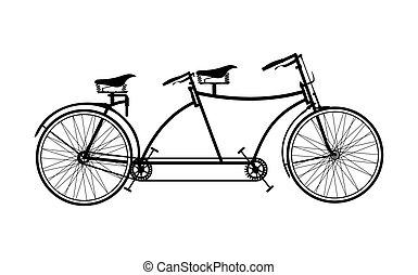 bicicleta de tandem