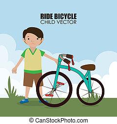 bicicleta, desenho