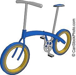 bicicleta, eficaz, color, moderno, ecofriendly, ilustración...
