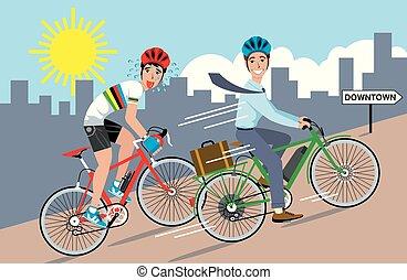 bicicleta, elétrico