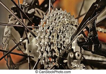 bicicleta, engranajes