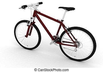 bicicleta, estúdio, render, 3d