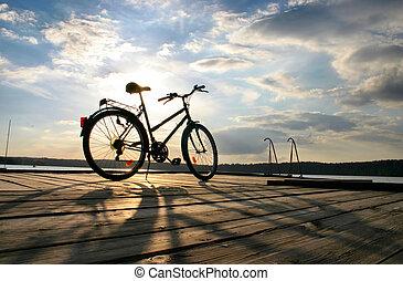 #, bicicleta, fin, viaje