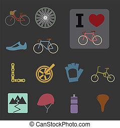 bicicleta, iconos