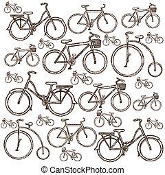 bicicleta, ilustración