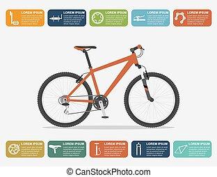 bicicleta, infographic