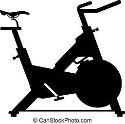 bicicleta, inmóvil