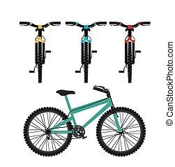 bicicleta montaña, diseño