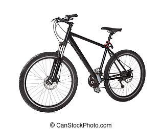 bicicleta montaña, negro