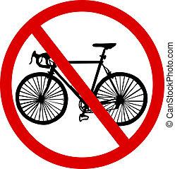 bicicleta, não