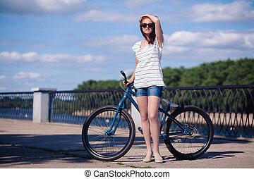 bicicleta, niña