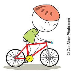 bicicleta, niño