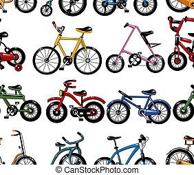 bicicleta, padrão, seamless