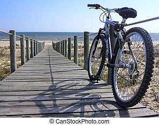 bicicleta, pasaje