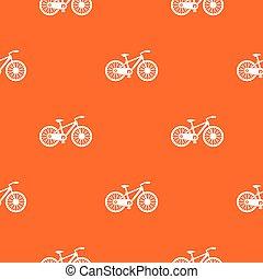 bicicleta, patrón, seamless