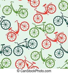 bicicleta, pattern., seamless