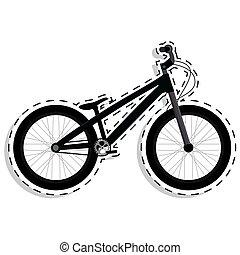 bicicleta, pegatina, bmx