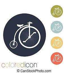 bicicleta, retro, ícone