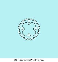 bicicleta, roda dentada