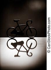 bicicleta, silueta