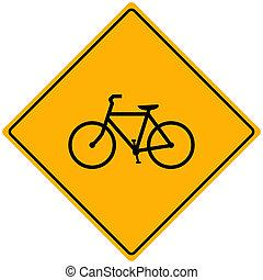 bicicleta, sinal, vetorial