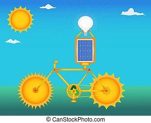 bicicleta, solar