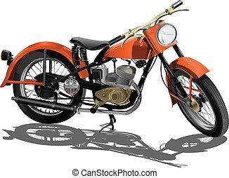 bicicleta, vector, motor