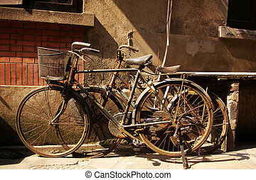 bicicleta velha, em, china