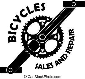 bicicleta, vendas, e, reparar