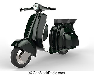 bicicleta, verde, luxo, motor