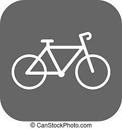 bicicleta, vetorial, raça