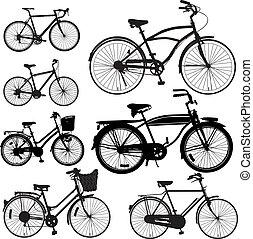 bicicleta, vetorial