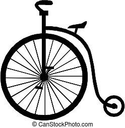 bicicleta, viejo