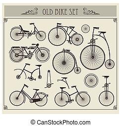 bicicletas, antigas