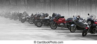 bicicletas, fila