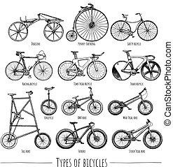 bicicletas, tipos