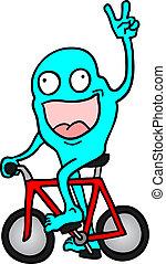 bicicletta, burattino