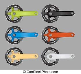bicicletta, chainring