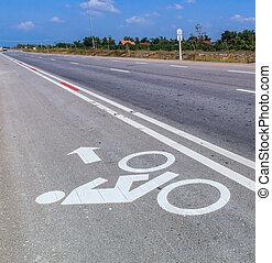 bicicletta, corsia bicicletta, corsie