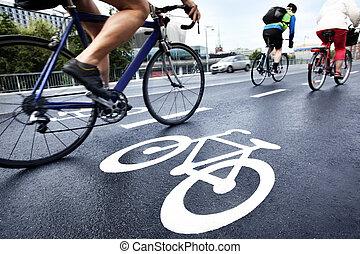 bicicletta, corsia