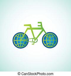 bicicletta, ecologia, mondo