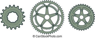 bicicletta, ingranaggi