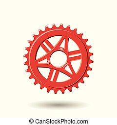 bicicletta, ingranaggio, icona