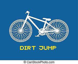 bicicletta, saltare, sporcizia