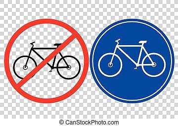 bicicletta, -, segno strada