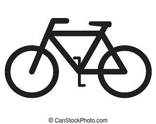 bicicletta, silhouette