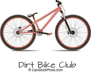 bicicletta, sporcizia, club.