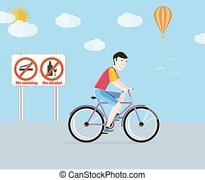bicicletta, sport, turismo