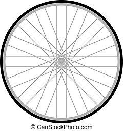 bicicletta, strada, illustrazione