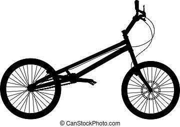 bicicletta, vettore, silhouette